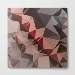 Bulgarian Rose Brown Abstract Low Polygon Background Metal Print