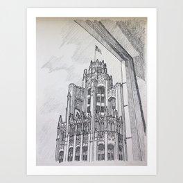Chicago - Tribune Window Art Print