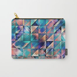 Textural Reflections of Turquoise Carry-All Pouch