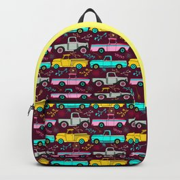 Floral Vintage Trucks Backpack