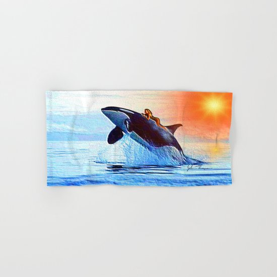 Orca Queen Hand & Bath Towel