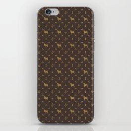 Louis Pug Face Luxury Dog Pattern iPhone Skin