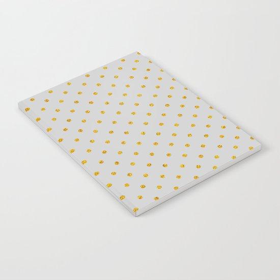 Polka dot dance on grey Notebook