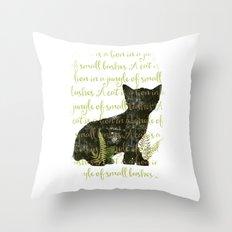 A cat is a lion.... Throw Pillow