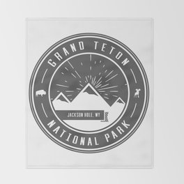 Grand Teton National Park Throw Blanket