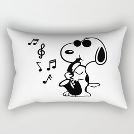 snoopy music shakesofone Rectangular Pillow