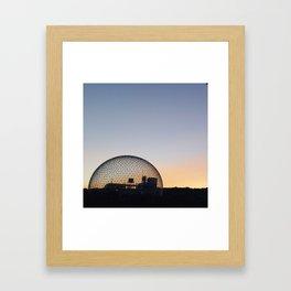 August sky Framed Art Print