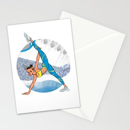 Sneaker Badge: Yoga girl Cool Noodle and Air Jordan 11 Stationery Cards