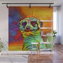 Animal ArtStudio -funky meerkat Wall Mural