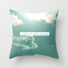 lights will guide you home Throw Pillow