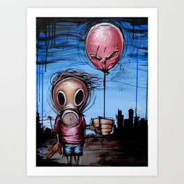 Toxic Kid Art Print