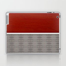 Red And Grey And White Stripe Graphic Offset Pattern Laptop & iPad Skin