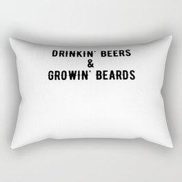 Drinkin' Beers And Growin' Beards Rectangular Pillow
