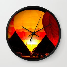 Balloon Glow, Albuquerque, NM Wall Clock