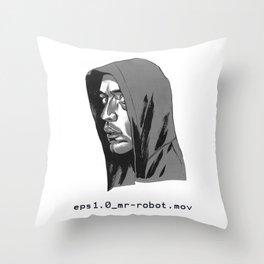 Mr Robot Throw Pillow