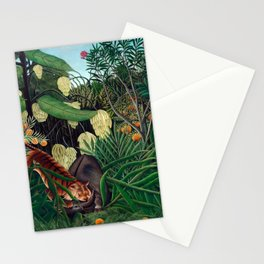 Henri Rousseau - Fight between a Tiger and a Buffalo Stationery Cards