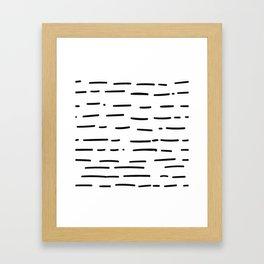 Hand Drawn Dashed Lines Framed Art Print