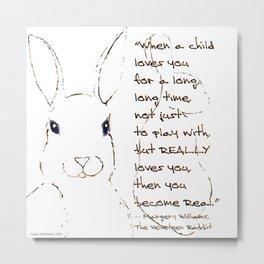 Minimalist Velveteen Rabbit Metal Print