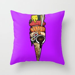 Soy Sauce Overload Throw Pillow