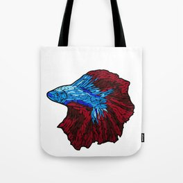 Betta Fighting Fish_Red Tote Bag
