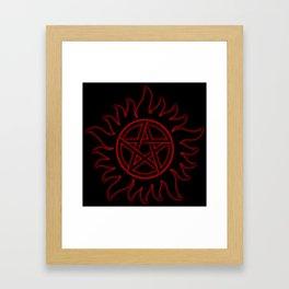 Anti Possession Sigil Red Glow Framed Art Print