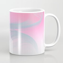 Flow Motion Vibes 1. Pink, Violet and Grey Coffee Mug