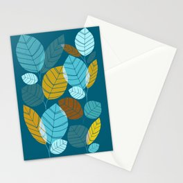 Winter Forest / Leaf Pattern Stationery Cards