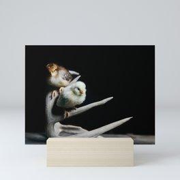 Chicks on Antlers Mini Art Print