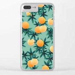 Orange Twist Vibes #1 #tropical #fruit #decor #art #society6 Clear iPhone Case