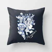 digimon Throw Pillows featuring Digimon Memories by Cursed Rose