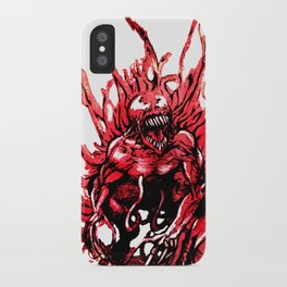 Carnage watercolor iPhone Case