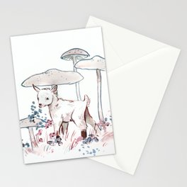Small Goat or Huge Mushrooms Stationery Cards