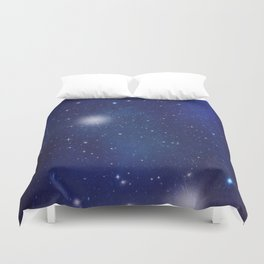 Blue galaxy Duvet Cover
