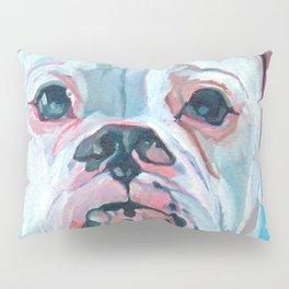Otis the White Boxer Pillow Sham