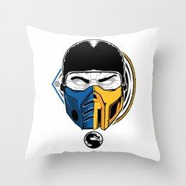 Scorpion and Sub Zero Throw Pillow