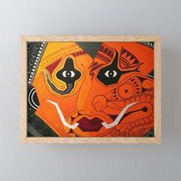 Theyyam Framed Mini Art Print