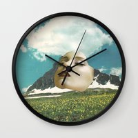 rushmore Wall Clocks featuring Mount Rushmore by Jordan Clark