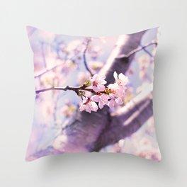 cherry pink Throw Pillow