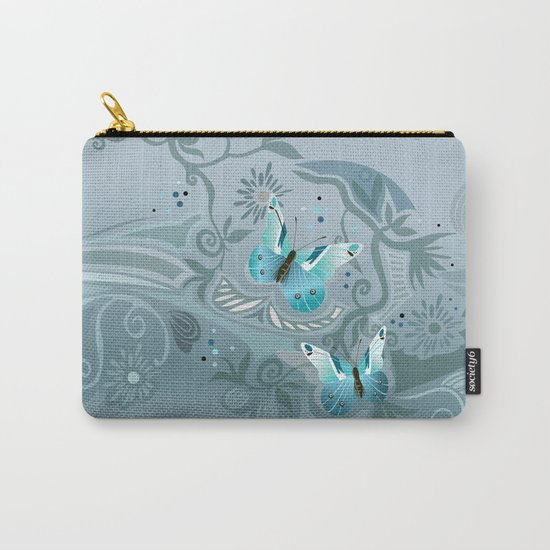 Butterfly tangle, colony blue Carry-All Pouch