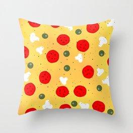 Cool fun pizza pepperoni mushroom Throw Pillow