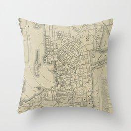 Vintage Map of Newport Rhode Island (1901) Throw Pillow