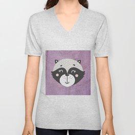 Raccoon Face Unisex V-Neck