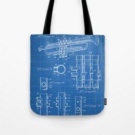 Selmer Trumpet Patent - Trumpet Art - Blueprint Tote Bag