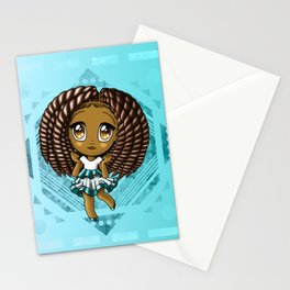 Adorable African American Girl Stationery Cards