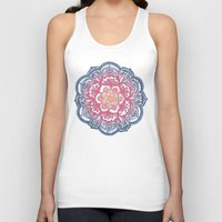 bedding Tank Tops featuring Radiant Medallion Doodle by micklyn