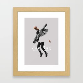 Dancing with tears in my eyes Framed Art Print