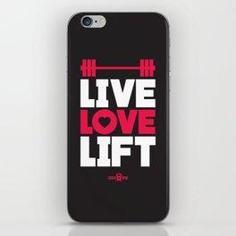Live love lift iPhone Skin