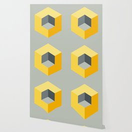 'Iso-Cube Yellow' Wallpaper