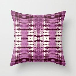 Black Cherry Satin Shbori Throw Pillow