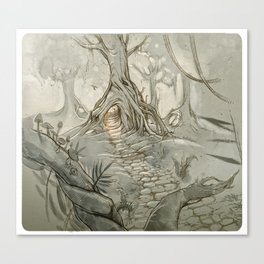 Drawings a Forest Canvas Print